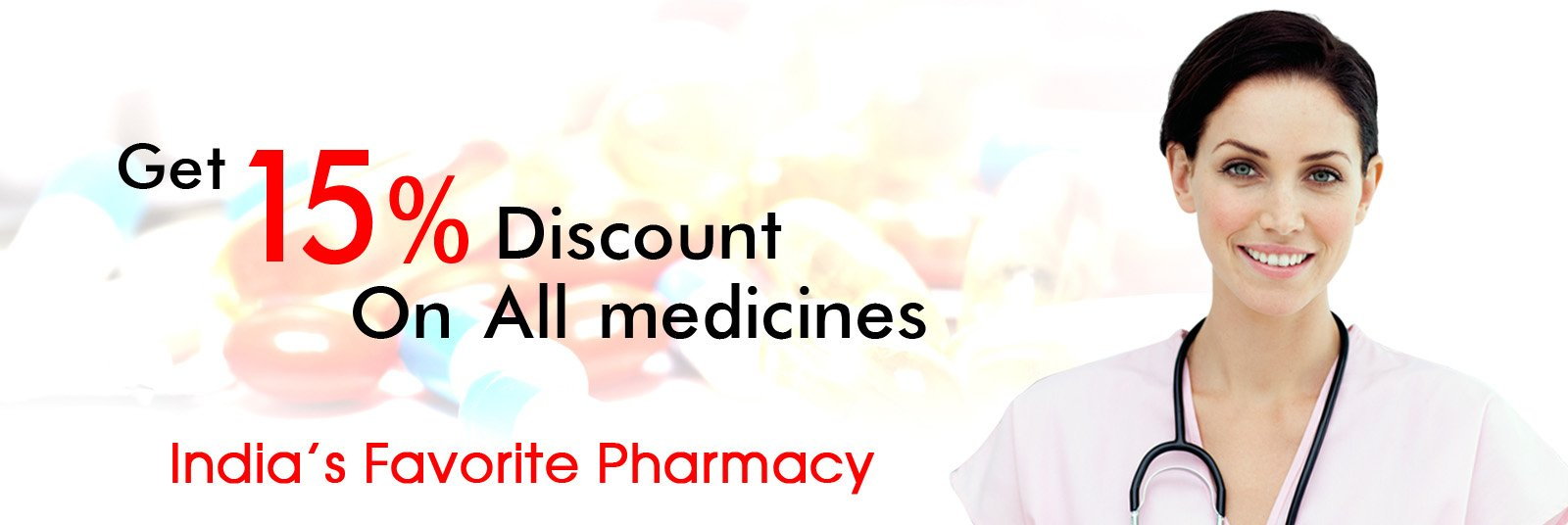 15 percent Off on Pharmacy Products