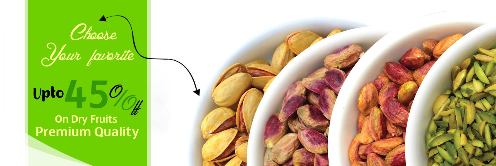 Upto 45 percent off on Dry Fruits