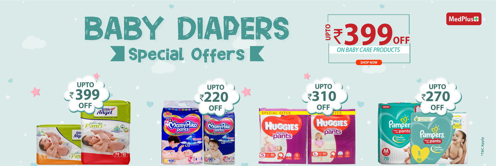 Upto Rs 399 Off Baby Diapers