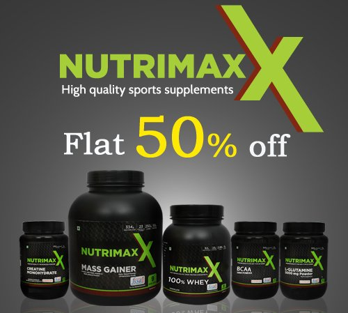 Flat 50 percent off on Nutrimaxx Products