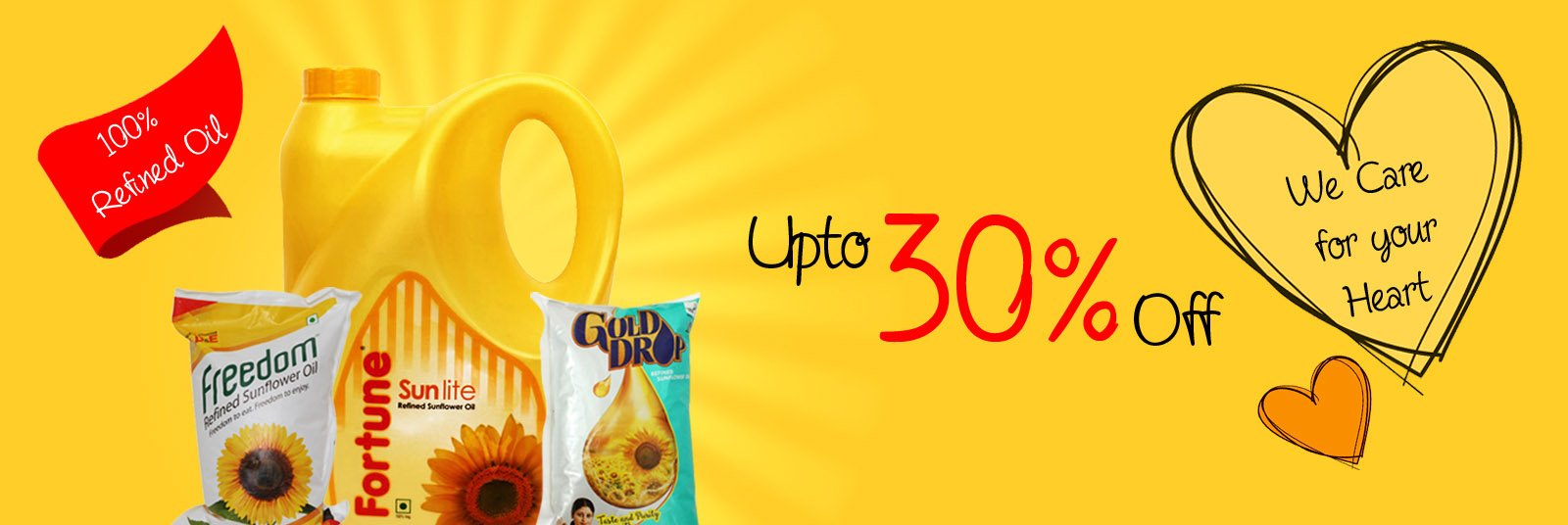 30 percent Off on Sunflower Oil