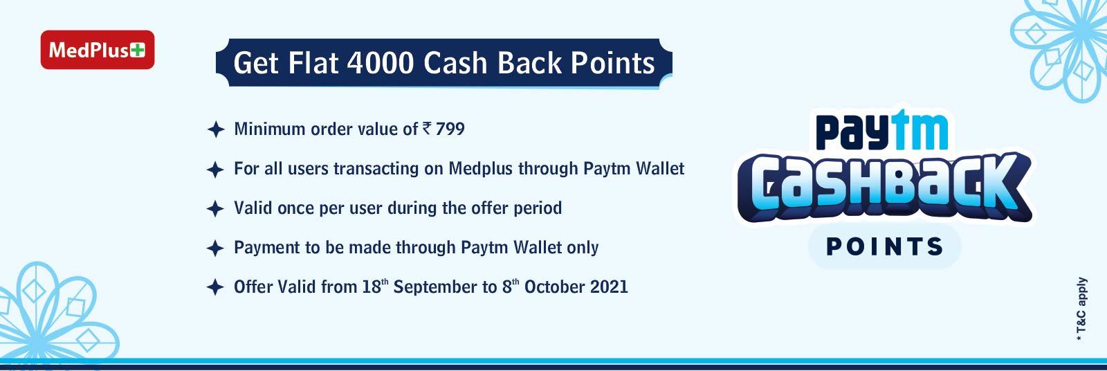 Get 4000 Paytm Cash Back Points