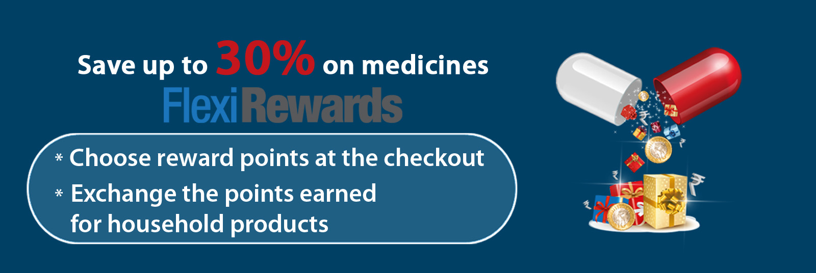 Save up to 30 percent on Medicine