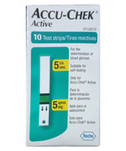 ACCU-CHEK ACTIVE STRIPS 10S