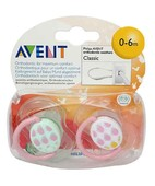 AVENT SOOTHER 0-6M CLASSIC TWIN PACK