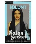 BBLUNT SALON SECRET HIGH SHINE CREME HAIR COLOUR BLACK NATURAL BLACK 1 100 GM + 8ML