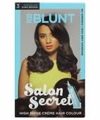 BBLUNT SALON SECRET HIGH SHINE CREME HAIR COLOUR CHOCOLATE DARK BROWN 3 100GM + 8ML