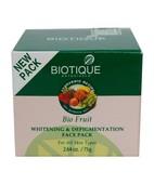 BIOTIQUE FRUIT WHITENING DEPIGMENTATION  FACE PACK 75GM
