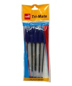 CELLO TRI MATE BALL PEN BLUE PK 5