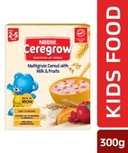CEREGROW MULTIGRAIN CEREALS WITH MILK&FRUITS BIB 300GM