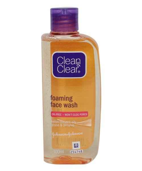 CLEAN AND CLEAR FOAMING FACIAL WASH 100ML