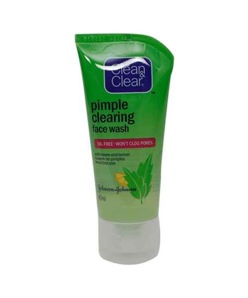Clean Clear Pimple Clearing Face Wash 40gm Clean Clear Buy