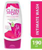 CLEAN AND DRY INTIMATE WASH 184ML LOTION