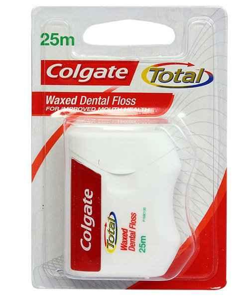 COLGATE TOTAL WAXED DENTAL FLOSS 25M