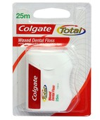 COLGATE TOTAL DENTAL FLOSS WAXED 25M