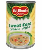 DELMONTE SWEET CORN CREAMY STYLE 425GM TIN