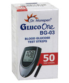 DR MOREPEN GLUCO ONE BLOOD GLUCOSE STRIPS 50S
