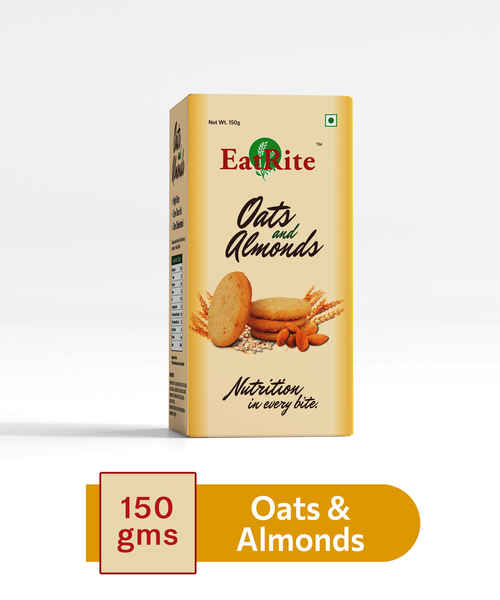 EATRITE BISCUITS OATS & ALMONDS 150GM