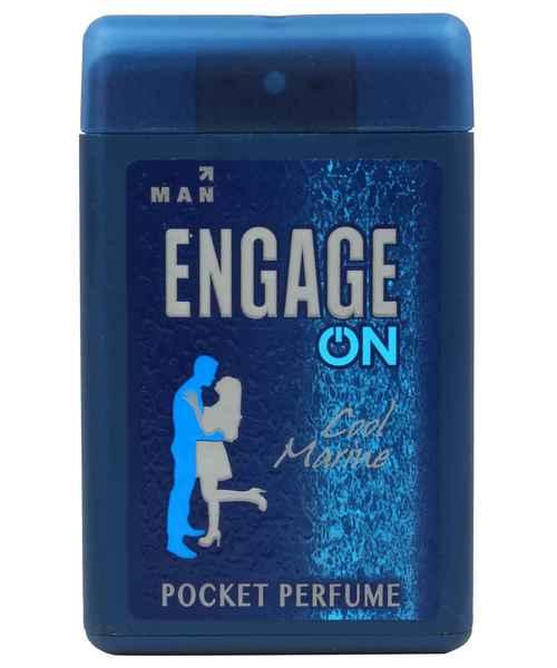 ENGAGE ON MEN'S COOL MARINE POCKET PERFUME 18ML