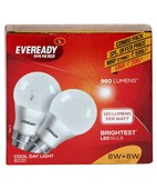 EVEREADY LED 8 W + 8 W  COMBI