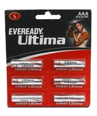 EVEREADY ALKALINE AAA ULTIMA PACK OF 6