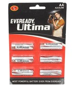 EVEREADY ALKALINE AA ULTIMA PACK OF 6