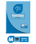 FEEL SURE MEDIUM ADULT DIAPERS 10S