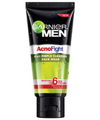 GARNIER MEN ACNO FIGHT 6 IN 1 PIMPLE FACE WASH 100GM