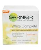 GARNIER SKIN NATURALS WHITE COMPLETE MULTI ACTION FAIRNESS CREAM SPF17PA++ 18GM