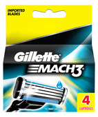 GILLETTE MACH3 CARTRIDGES 4S