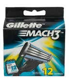GILLETTE MACH3 CARTRIDGES 12S