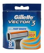 GILLETTE VECTOR 3 CARTRIDGES 8S
