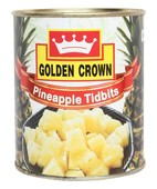 GOLDEN CROWN PINEAPPLE TIDBITS TIN 840GM