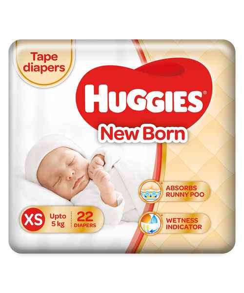 HUGGIES NEW BABY ULTRA SOFT XS 22S DIAPERS