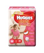 HUGGIES ULTRA SOFT PANTS GIRLS M 30S
