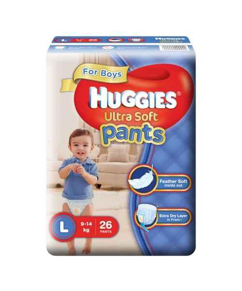 HUGGIES ULTRA SOFT PANTS BOY L 26S