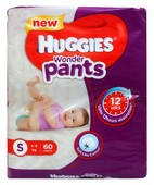 HUGGIES WONDER PANTS S 60S