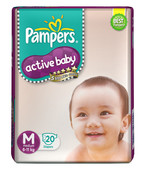 PAMPERS ACTIVE BABY MEDIUM 20S