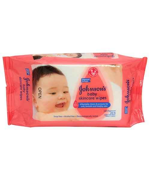 JOHNSONS BABY SKINCARE WIPES 20S