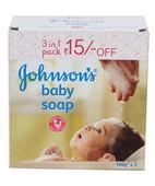 JOHNSON BABY SOAP 3*100GM
