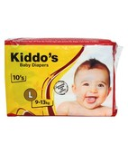KIDDO'S BABY DIAPERS LARGE 10S