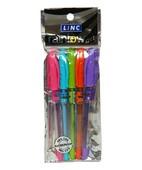 LINC RAINBOW GEL PEN BLUE PACK 5
