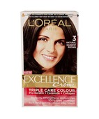 L'OREAL PARIS EXCELLENCE HAIR COLOR 3 NATURAL DARKEST BROWN