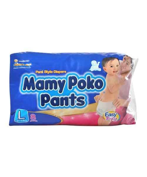 MAMYPOKO PANT STYLE DIAPERS - L 8S