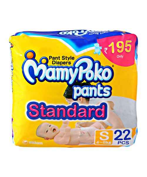 MAMYPOKO PANT STYLE STANDARD DIAPERS - S 22S