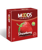 MOODS STRAWBERRY FLAVOUR CONDOM 3S