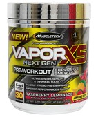MUSCLETECH VAPOR X5-266G(BLUE RASPBERRY FUSION) 30 SERVINGS BLUE RASPBERRY FUSION