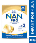 NAN PRO 3 FOLLOW UP INFANT FORMULA BB POWDER 400GM