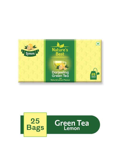 NATURES BEST GREEN TEA LEMON 25S SACHET