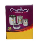 NEELAM STEEL CANISTER 3PC SET